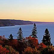 Bay Of Fundy Coastline - New Brunswick Canada Poster