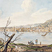 Bay Of Naples From Sea Shore Poster