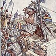 Bayard Defends The Bridge, Illustration Poster