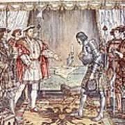 Bayard Presented To Henry Viii Poster