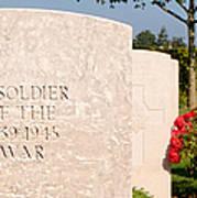 Bayeux British Cemetery Unknown Soldier Poster