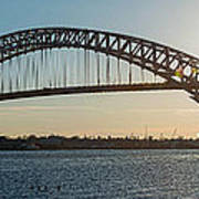 Bayonne Bridge Panoram Sunset Poster
