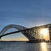 Bayonne Bridge Sunburst Poster