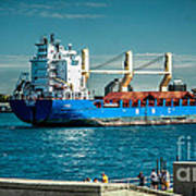 Bbc Elbe On St Clair River Poster
