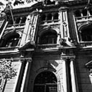 bbva bank huerfanos street city branch Santiago Chile Poster