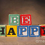 Be Happy - Jabberblocks Poster