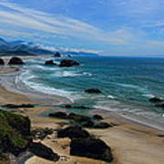 Beach At Ecola State Park Poster