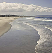 Beach At Santa Monica Poster