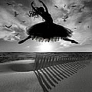 Beach Ballerina Poster by Nina Bradica