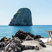 Beach Club La Fontanella, Capri Poster