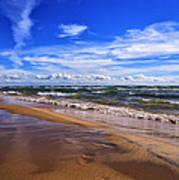 Beach Combing Poster