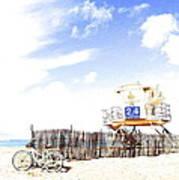 Beach Cruiser Poster