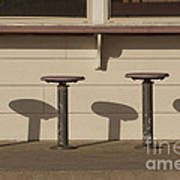 Beach Diner Stools Poster