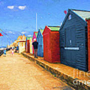 Beach Huts At Cromer Poster
