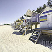 Beach Huts At Wells Poster