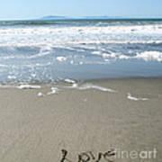 Beach Love Poster by Linda Woods