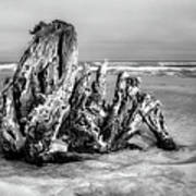 Beach Monster 2 - Outer Banks Bw Poster