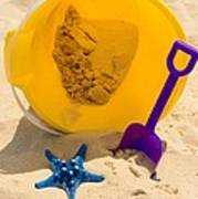 Beach Sand Pail And Shovel Poster