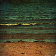 Beach Scene Ocean Waterfront Photograph Print Poster by Laura Carter