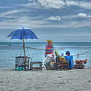 Beach Sellers Poster