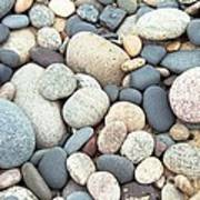 Beach Stones Poster