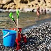Beach Toys Poster by Luis Alvarenga