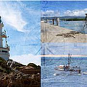 Beach Triptych 2 Poster