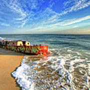 Beached Boat Morning - Outer Banks Poster by Dan Carmichael
