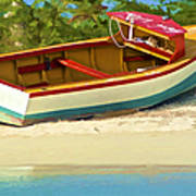 Beached Fishing Boat Of The Caribbean Poster