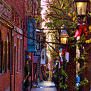 Beacon Hill Streets Poster by Joann Vitali