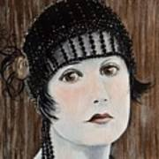Beaded Flapper Hat Poster
