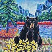 Bear By The Lake Poster