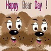 Bear Day Card Poster
