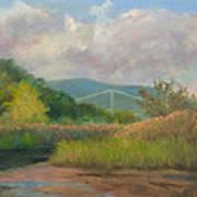 Bear Mountain Bridge From Iona Marsh Poster