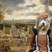 Bearded Collie Art Canvas Print Poster