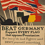 Beat Germany Poster by Adolph Treidler