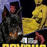 Beauceron Art Canvas Print - Psycho Movie Poster Poster