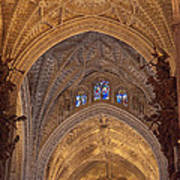 Beautiful Arches Of Seville Cathedral Poster by Viacheslav Savitskiy