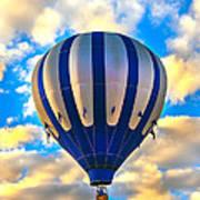 Beautiful Blue Hot Air Balloon Poster