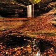 Beautiful Canyon And Waterfall Poster