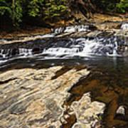 Beautiful Cascade In Western Ghats Karnataka India Poster