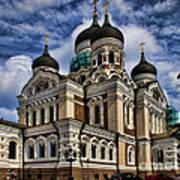 Beautiful Cathedral In Tallinn Estonia Poster