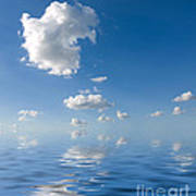 Beautiful Clouds And Sea Poster by Boon Mee