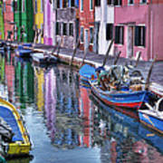 Beautiful Colors Of Burano Poster