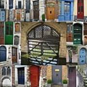 Beautiful Doors In London France And Belgium Poster by Cathy Jacobs