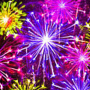 Beautiful Fireworks  6 Poster