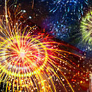 Beautiful Fireworks 8 Poster