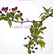 Beautiful Floral Greetings Poster