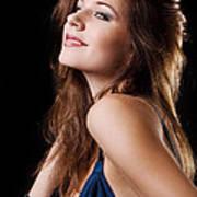 Beautiful Girl Studio Shot  Poster