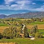 Beautiful Green Scenery Of Prigorje Region Poster